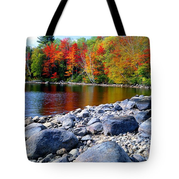 Autumn Shoreline Tote Bag