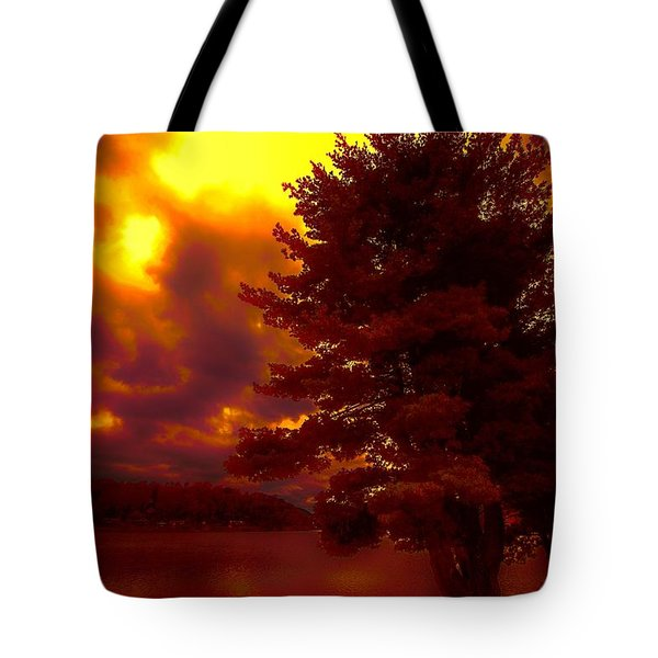 Autumn Skies L.junaluska Tote Bag by Dennis Baswell