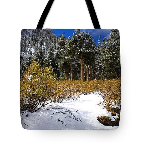 Autumn Snow Tote Bag by Chris Brannen