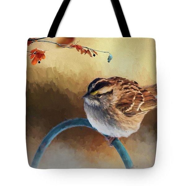 Autumn Sparrow Tote Bag