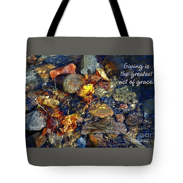 Tote Bag featuring the drawing Autumn Splash Grace by Diane E Berry
