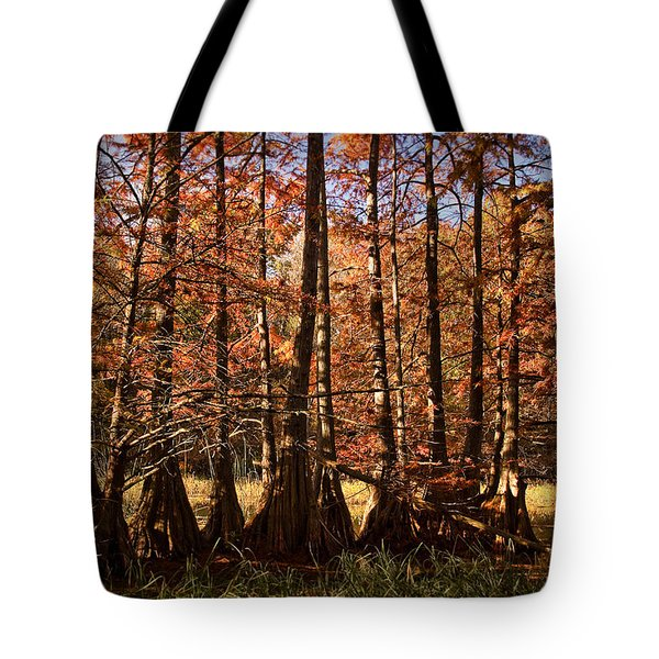 Tote Bag featuring the photograph Autumn Splendor At Lake Murray by Tamyra Ayles