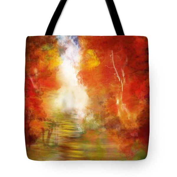 Tote Bag featuring the digital art Autumn  Splendor by Diana Riukas
