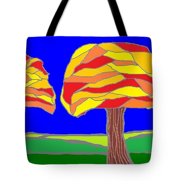 Autumn Stained Glass 1 Tote Bag