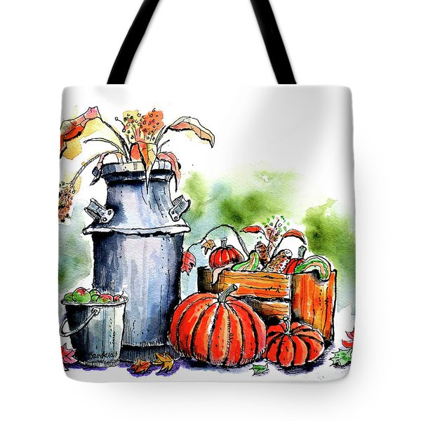 Tote Bag featuring the painting Autumn Still Life 1 by Terry Banderas