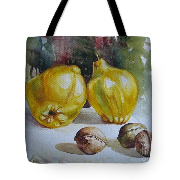 Tote Bag featuring the painting Autumn Still Life 2 by Elena Oleniuc