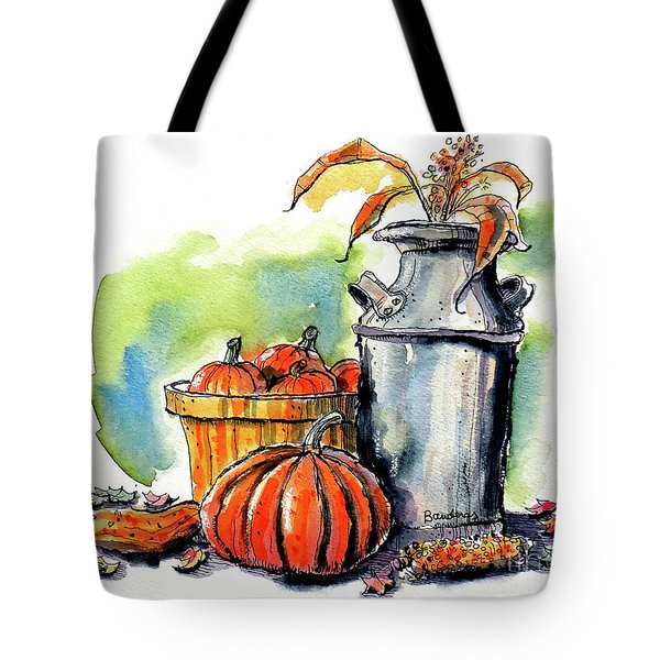 Tote Bag featuring the painting Autumn Still Life 2 by Terry Banderas