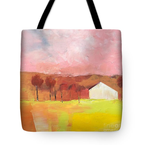 Tote Bag featuring the painting Autumn Stillness by Michelle Abrams
