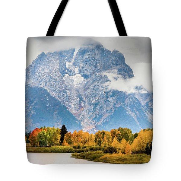 Autumn Storm Over Mount Moran Tote Bag