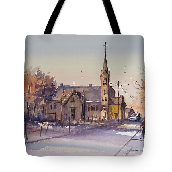 Autumn Stroll In Kaukauna Tote Bag