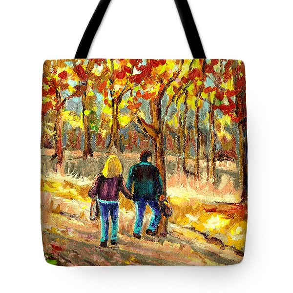 Autumn  Stroll On Mount Royal Tote Bag