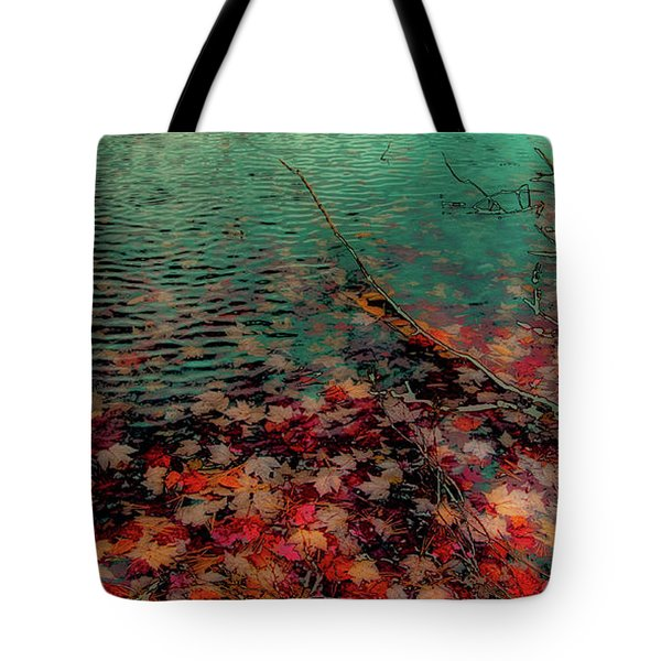 Tote Bag featuring the photograph Autumn Submerged by David Patterson