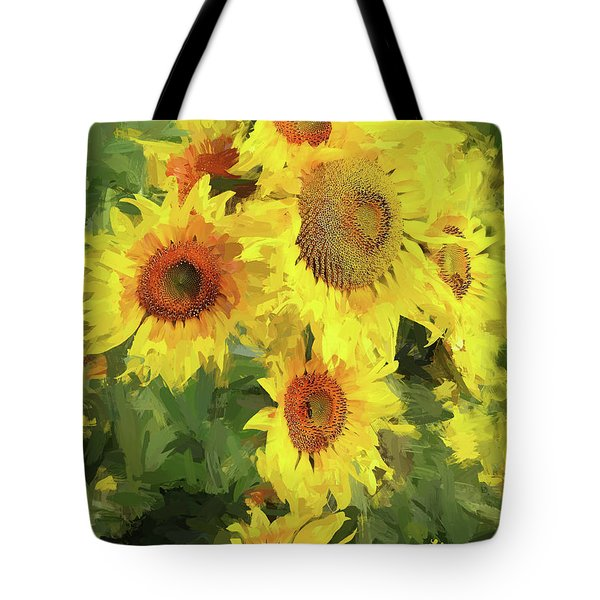 Autumn Sunflowers Tote Bag by Tina LeCour