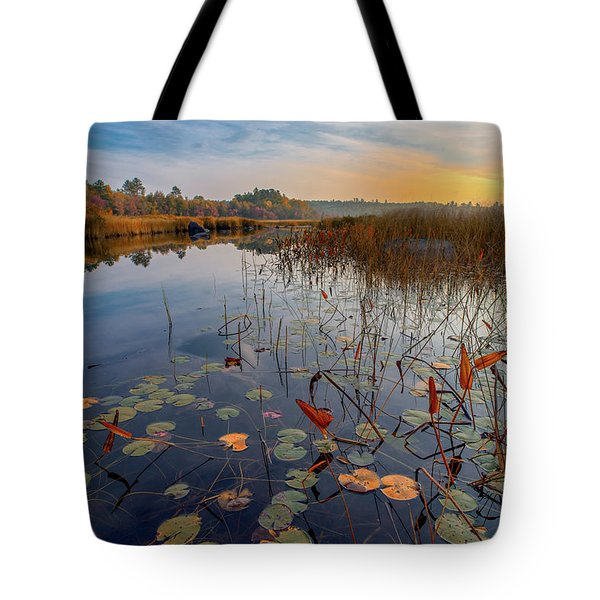 Autumn Sunrise At Compass Pond Tote Bag