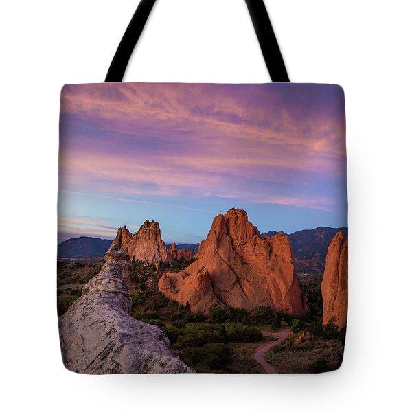 Autumn Sunrise At Garden Of The Gods, Colorado Springs, Colorado Tote Bag