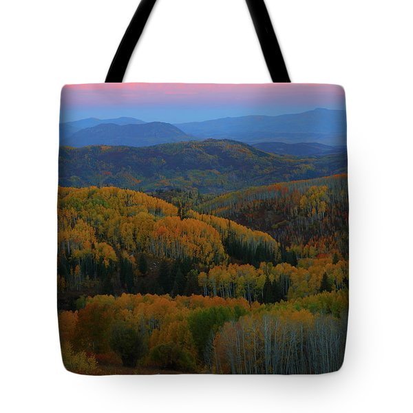 Autumn Sunrise At Rainbow Ridge Colorado Tote Bag by Jetson Nguyen