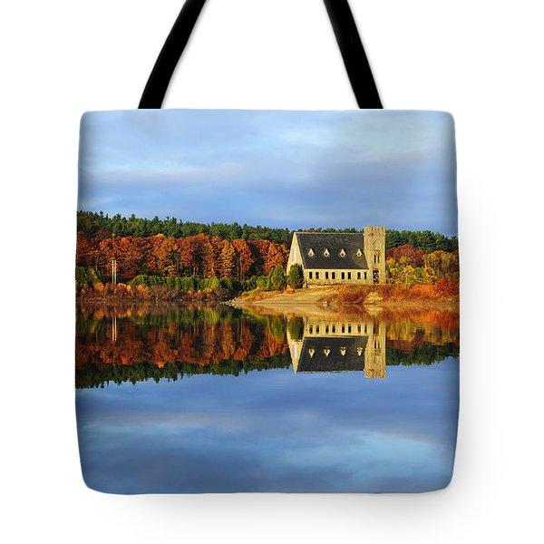Autumn Sunrise At Wachusett Reservoir Tote Bag