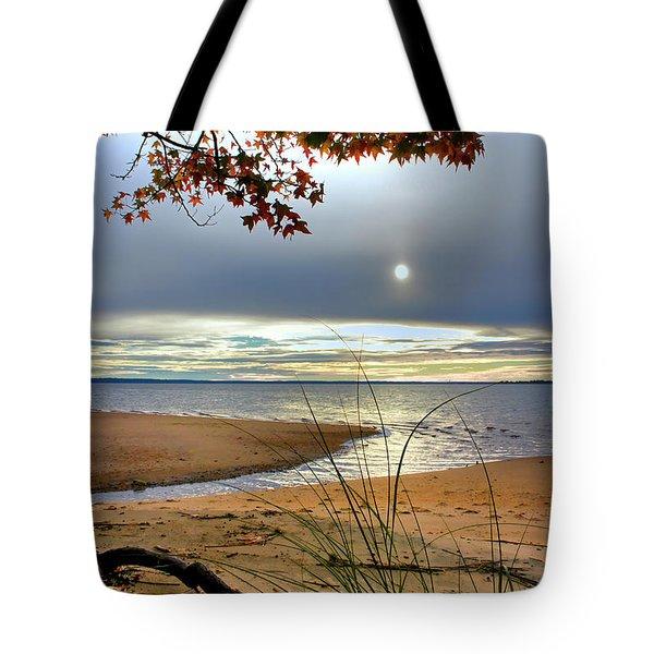 Autumn Sunrise On The James Tote Bag