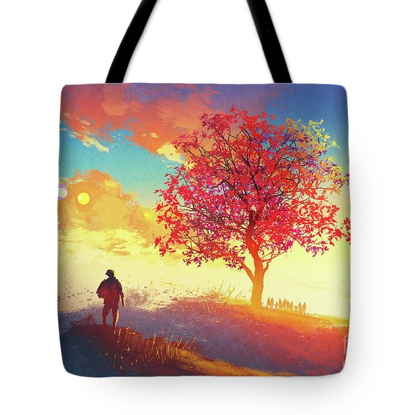 Autumn Sunrise Tote Bag