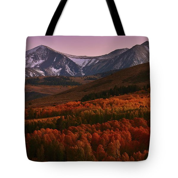 Autumn Sunset At Conway Summit In The Eastern Sierras Tote Bag