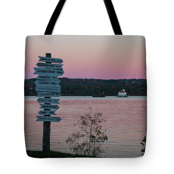 Autumn Sunset At Esopus Meadows Tote Bag