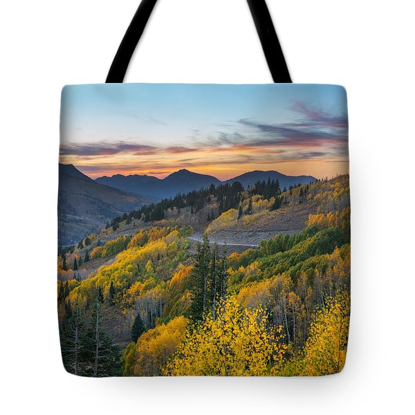Autumn Sunset At Guardsman Pass, Utah Tote Bag