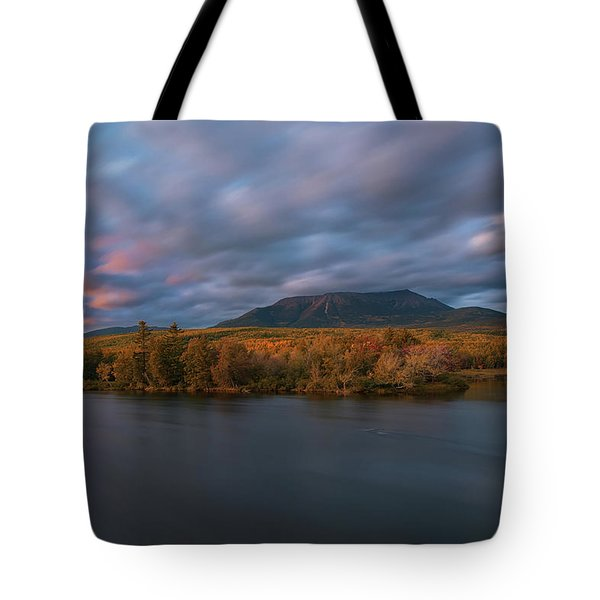 Autumn Sunset At Mount Katahdin Tote Bag