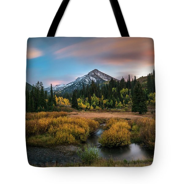 Autumn Sunset In Big Cottonwood Canyon Tote Bag