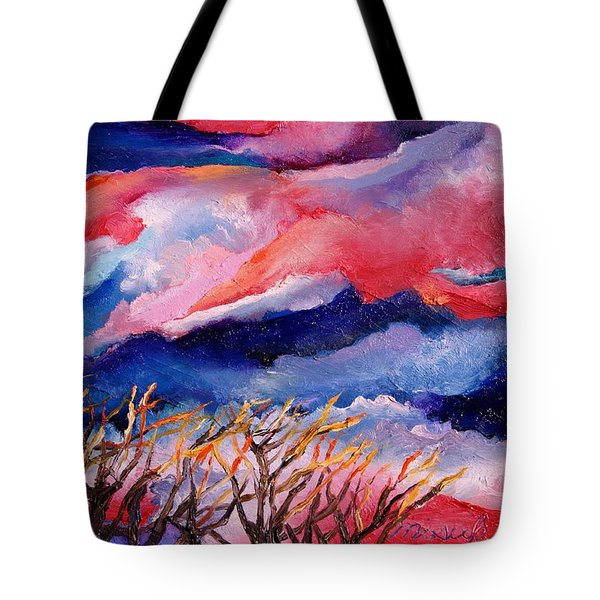 Autumn Sunset In The Sky Tote Bag
