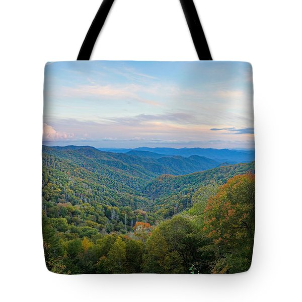 Autumn Sunset In The Smokey Mountains Tote Bag
