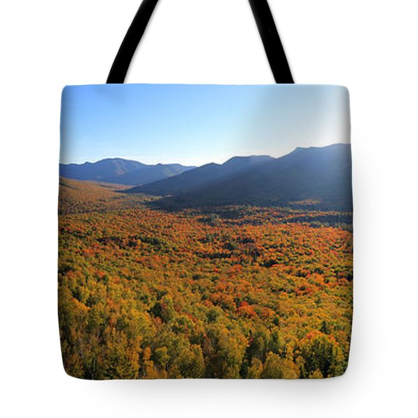 Autumn Sunset Over The Pemi Tote Bag