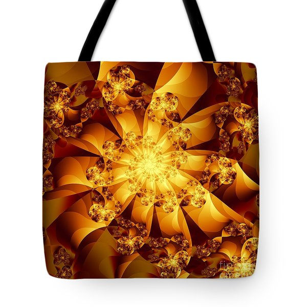 Tote Bag featuring the digital art Autumn Sunshine by Michelle H