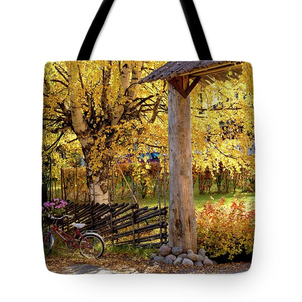 Rural Rustic Autumn Tote Bag