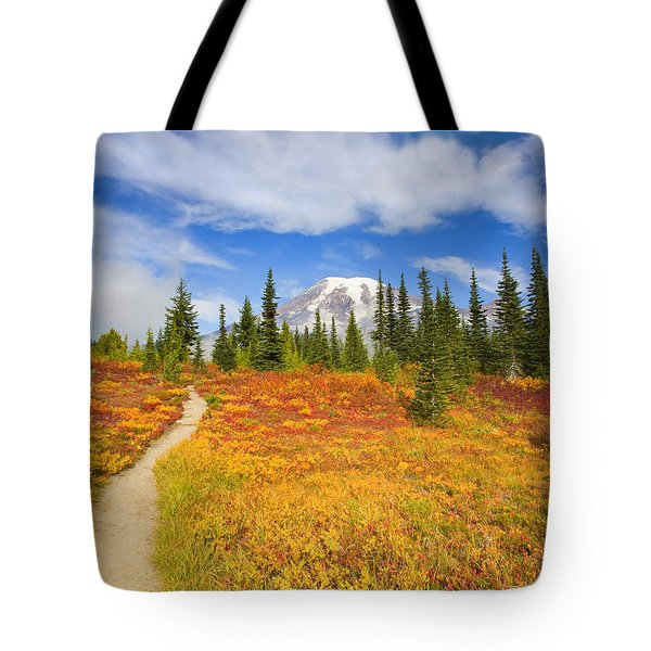Autumn Trail Tote Bag by Mike  Dawson