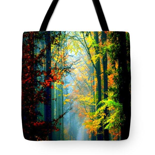 Autumn Trails In Georgia Tote Bag by Rafael Salazar