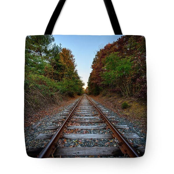 Autumn Train Tote Bag