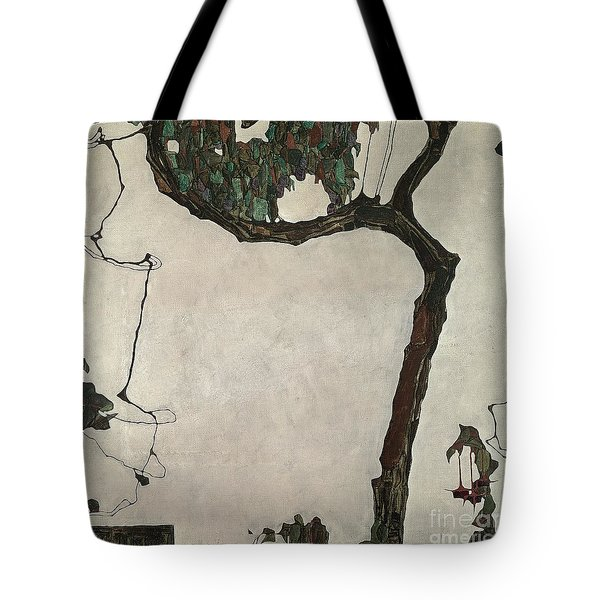 Autumn Tree Tote Bag by Egon Schiele