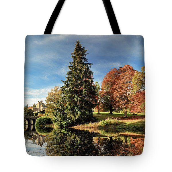 Autumn Tree Reflection Tote Bag