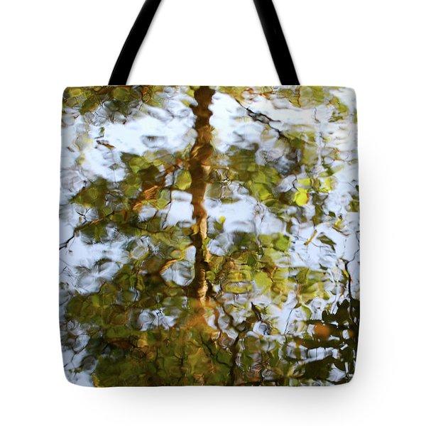 Autumn Tree Reflection Tote Bag