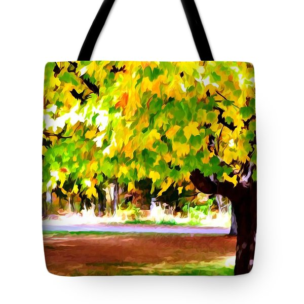 Autumn Trees 6 Tote Bag by Lanjee Chee
