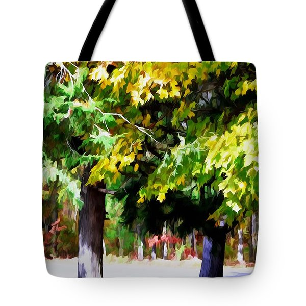 Autumn Trees 7 Tote Bag by Lanjee Chee