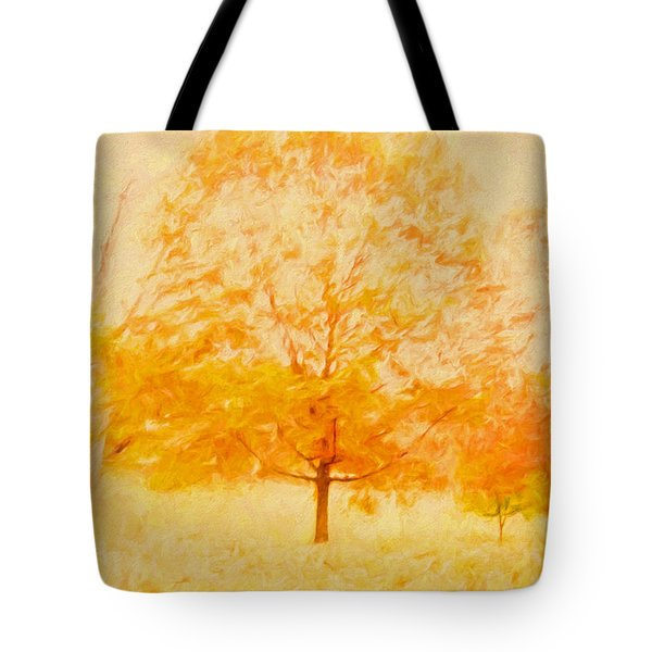 Autumn Trees Abstract Tote Bag