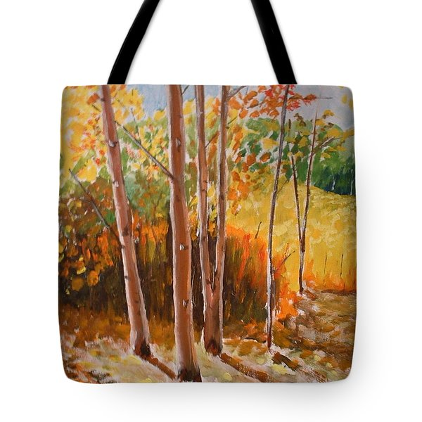 Autumn Trees Tote Bag