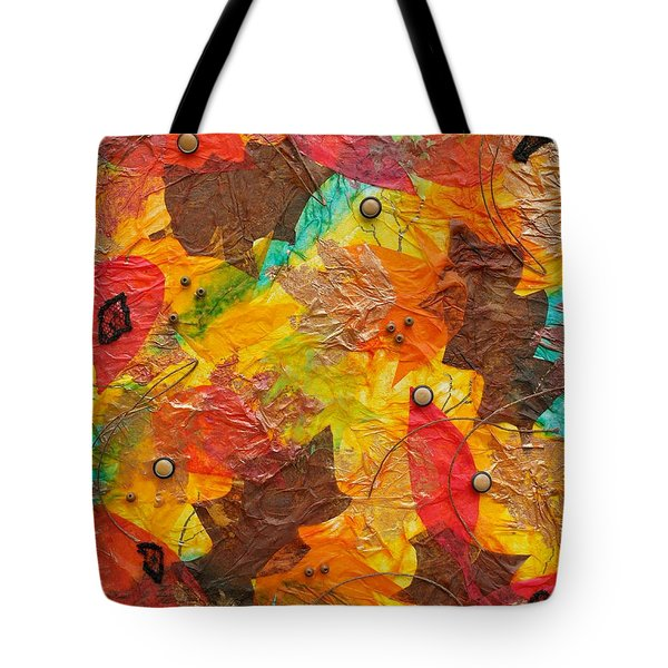 Autumn Leaves Underfoot Tote Bag