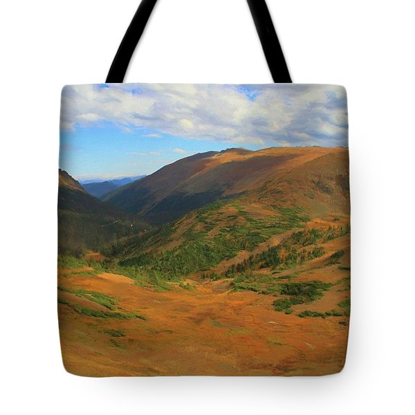 Autumn Valley From The Top Of Trail Ridge Road Tote Bag