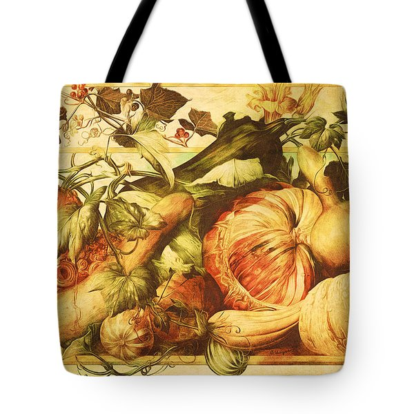 Tote Bag featuring the digital art Autumn Vegetable Harvest  by Tracie Kaska