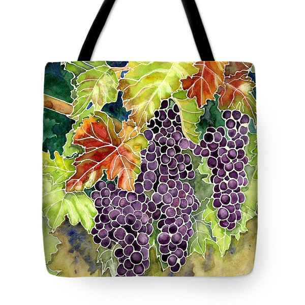 Autumn Vineyard In Its Glory - Batik Style Tote Bag by Audrey Jeanne Roberts