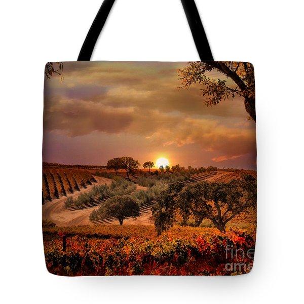 Autumn Vineyard Tote Bag by Stephanie Laird