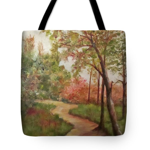 Autumn Walk Tote Bag by Roseann Gilmore