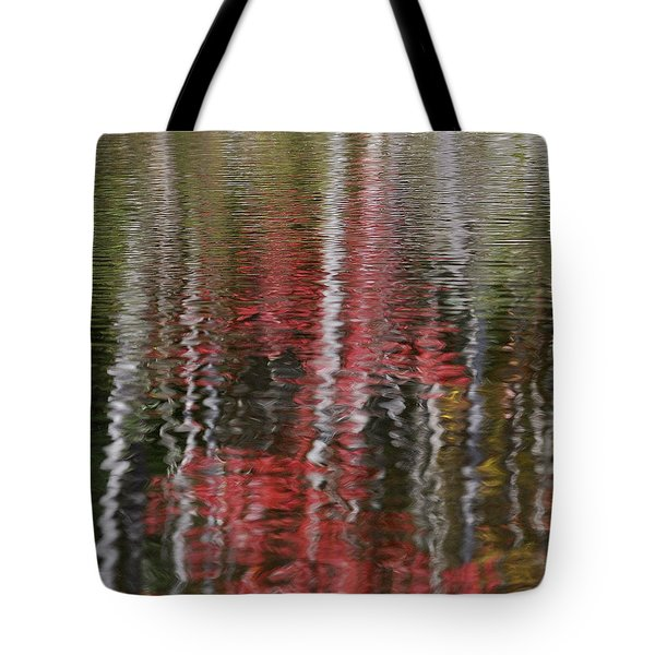 Tote Bag featuring the photograph Autumn Water Color by Susan Capuano